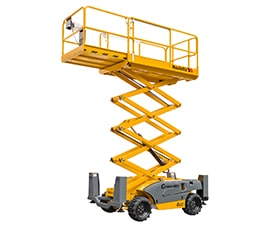 compact 10 dx diesel scissor lift sterling access image 01 - Scissor Lifts For Hire