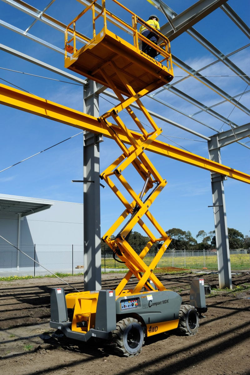 compact 10 dx diesel scissor lift sterling access image 04 - Compact 10 DX - Diesel Scissor Lift For Hire