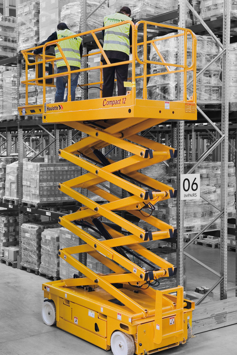 sterling access compact 12 electric scissor lift image 02 - Compact 12 - Electric Scissor Lift For Hire