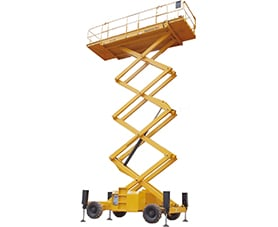 sterling access h12 sx diesel scissor lift for hire image 01 - Diesel scissor lift for sale